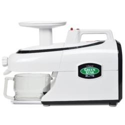 Tribest® Greenstar® Elite Jumbo Twin Gear Slow Masticating Juicer, GSE-5000-B, White