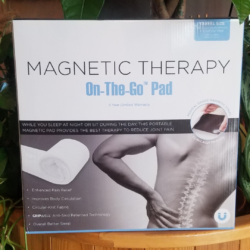 BioPEDIC Therapy On-The-Go Magnetic Chair Pad, White