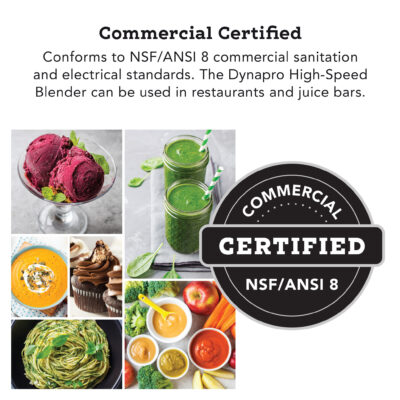 Tribest® Dynapro® Commercial High-Speed Blender, DPS-2200GY-B, Gray