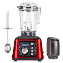 Tribest® Dynapro® Commercial High-Speed Vacuum Blender DPS-2250RD-B, Red