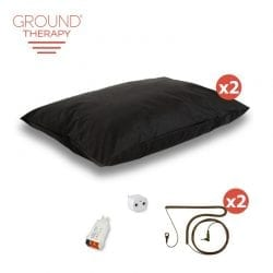 Earthing Ground Therapy Pillow Cover Kit, Double